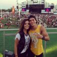 Giovanna Lancellotti e Arthur Aguiar aproveitaram o Rock in Rio juntos