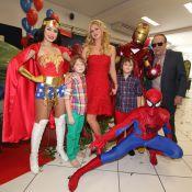 Val Marchiori comemora o aniversário de 8 anos dos filhos gêmeos, Victor e Eike