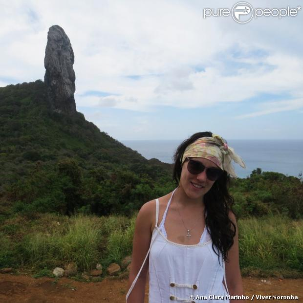 Adriana Birolli esteve em Fernando de Noronha pela primeira vez, em outubro de 2013