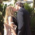Letícia Spiller e Dalton Vigh gravam cena do beijo de Antonia e Carlos em 'Salve Jorge', em 26 de dezembro de 2012