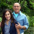 Renato Aragão posa com a filha, Lívian, que já contracenou com o pai