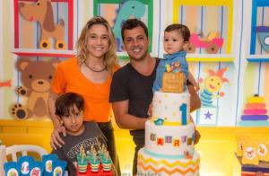 Fernanda Gentil faz festa com ex-marido para comemorar 1 ano do filho, Gabriel