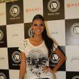 Jakelyne Oliveira, a Miss Brasil 2013, marcou presença no lançamento da linha de roupas de Giovanna Ewbank, em 30 de novembro de 2013