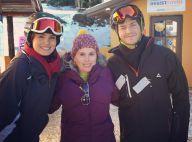 Camila Queiroz e Klebber Toledo esquiam juntos em viagem: 'Para nós, todo amor'