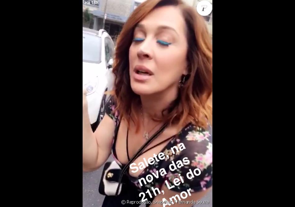 Cláudia Raia mostra a maquiagem azul que vai usar em 'A Lei do Amor', próxima novela das nove, com estreia prevista para outubro de 2016