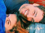 Mariana Goldfarb posa abraçada ao namorado, Cauã Reymond, e brinca: 'Vou perder'