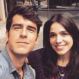O casal formado por Sabrina Petraglia e Marcos Pitombo na novela 'Haja Coração' caiu nas graças do público, mas não gera ciúmes no namorado da atriz