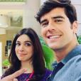 Sabrina Petraglia e Marcos Pitombo formam um casal apaixonado na novela 'Haja Coração'
