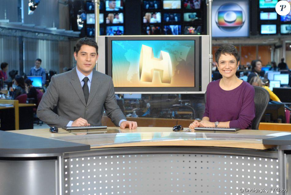 Atualmente Evaristo Costa está no comando do 'Jornal Hoje' ao lado ...