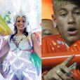 Neymar e Bruna Marquezine assumiram o namoro no Carnaval carioca de 2013, após a atriz desfilar pela escola de samba Grande Rio
