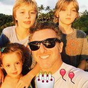 Luciano Huck aparece com os filhos e agradece: 'Melhor aniversário impossível'