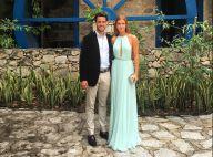 Marina Ruy Barbosa posa com noivo, Xande Negrão, em casamento de amigos. Fotos!