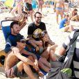 Cleo Pires e Paulo Vilhena participaram neste domingo, 4 de setembro de 2016, de um evento na praia de Ipanema, na Zona Sul do Rio, voltado para pessoas com deficiência física