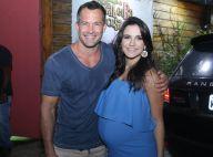 Malvino Salvador e Kyra Gracie, grávida de 8 meses, comemoram 2 anos da filha