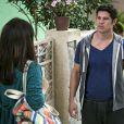 Adônis (José Loreto) fica arrasado com a recusa de Shirlei (Sabrina Petraglia), na novela 'Haja Coração'