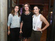 Fátima Bernardes, recém-separada, prestigia show de Tiago Iorc com as filhas