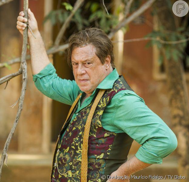 Afrânio (Antonio Fagundes) fica louco na reta final de novela 'Velho Chico'
