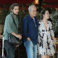 Paloma Duarte passeou com o marido, Bruno Ferrari, em um shopping carioca