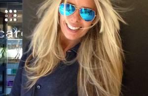 Adriane Galisteu tem dia de beleza e exibe novo visual: 'Cabelo iced platinum'