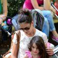 Katie Holmes e Suri Cruise foram ao zoológico em Nova York, em julho de 2012