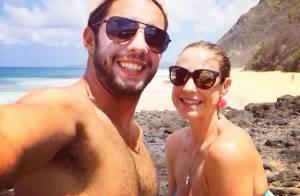 Luana Piovani e Pedro Scooby curtem Fernando de Noronha: 'Dia dos namorados'
