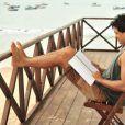 Raphael Vianna estuda cena de seu personagem Hélio, de 'Flor do Caribe'