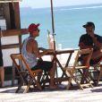 Micael Borges esteve na praia do Leblon, no Rio, nesta quarta-feira