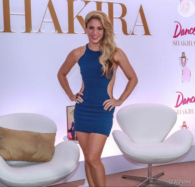 Shakira esteve no lançamento de um perfume com o seu nome em São Paulo, nesta terça-feira, 6 de dezembro de 2016