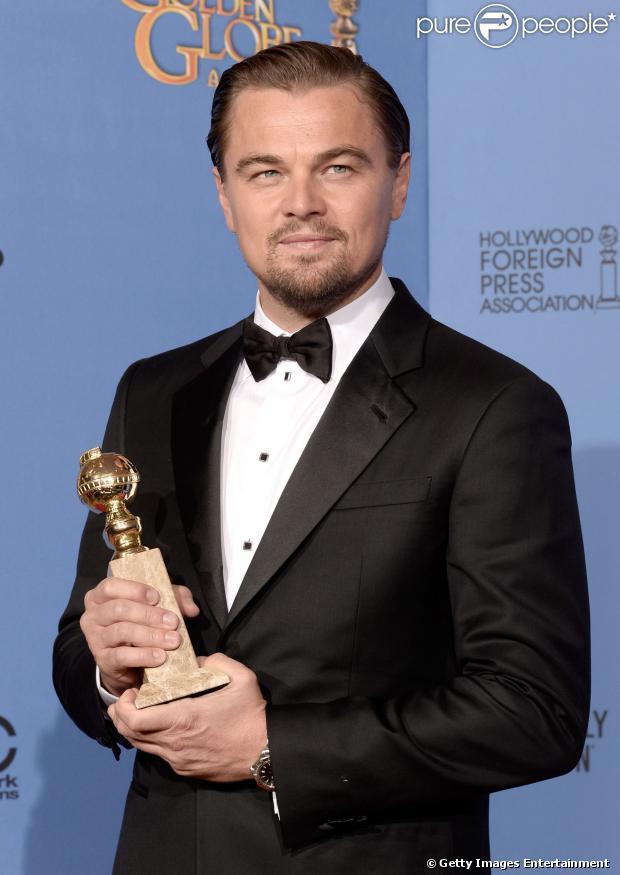 Leonardo DiCaprio venceu o Globo de Ouro de Melhor Ator - Comédia ou Musical por sua atuação em 'O Lobo de Wall Street'