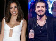Anitta comenta olhar sedutor de Luan Santana em clipe e ele brinca: 'Sou vesgo'