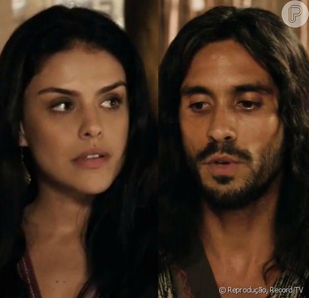 Samara (Paloma Bernardi) mata Abel (Edu Porto), nos próximos capítulos da novela 'A Terra Prometida'