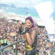 Ludmilla empolgou o público da 21ª Parada Gay que aconteceu neste domingo, 11 de dezembro de 2016, em Copacabana, no Rio