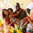 Rafael Zulu, ator de 'Sol Nascente', comemorou o aniversário de 10 anos da filha, Luiza, em um clube na Barra da Tijuca, Zona Oeste do Rio de Janeiro, neste domingo, 22 de janeiro de 2016