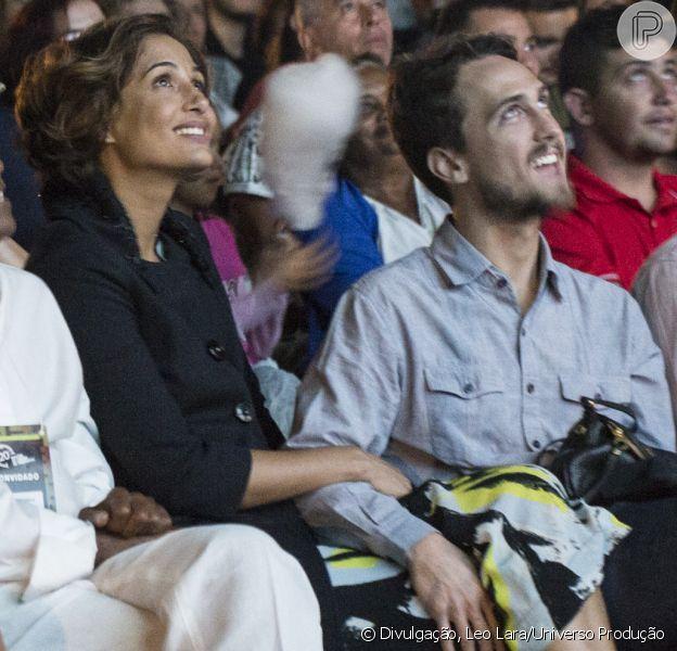 Camila Pitanga e Igor Angelkorte foram juntos à 20ª Mostra de Cinema de Tiradentes, no dia 21 de janeiro de 2017