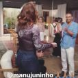 Vídeo mostra Reynaldo Gianecchini festejando com Claudia Raia e outros colegas da novela 'A Lei do Amor' os cinco anos de cura do câncer