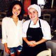 A atriz passou uma semana em Minas Gerais e foi fotografada no restaurante Benvindo ao lado da chef de cozinha Kiki Ines na última terça-feira, 28 de janeiro de 2014
