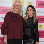 Tatá Werneck, com sutiã à mostra, e Vera Holtz lançam o filme 'TOC' em São Paulo