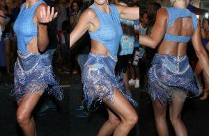 Carnaval: Ticiane Pinheiro arrasa no samba em ensaio da Vila Isabel. Vídeo!