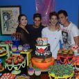 João Guilherme Ávila recebeu amigos e família na noite desta quarta-feira, 1º de fevereiro de 2017, em seu aniversário de 15 anos, em São Paulo