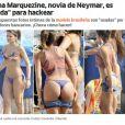 Bruna Marquezine é conhecida na Espanha por ser namorada de Neymar, jogador do Barcelona