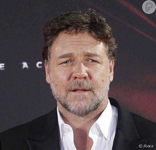 Russell Crowe anuncia vinda ao Brasil para divulgar filme 'Noé', em 26 de fevereiro de 2014