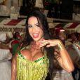 Gracyanne Barbosa estreia este ano como rainha de bateria da X-9 Paulistana