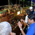 O prefeito ACM Neto também entrou na dança do 'Lepo Lepo' no Expresso 2222, em Salvador