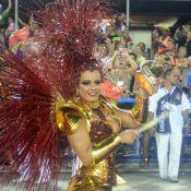 Viviane Araújo brilha no Salgueiro com fantasia banhada a ouro: 'Comportada'