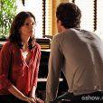 Verônica (Helena Ranaldi) diz a Laerte (Gabriel Braga Nunes) que talvez seja bom para os dois terem um distanciamento, na novela 'Em Família'