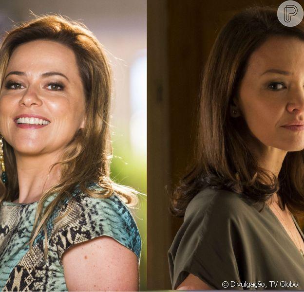Shirley (Vivianne Pasmanter) vai buscar o quadro que arrematou no leilão de Helena (Julia Lemmertz) e provoca a rival, em 10 de março de 2014, na novela 'Em Família'