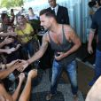 Ricky Martin grava clipe de música para a Copa do Mundo no Brasil 2014 no Mirante do Leblon, na Zona Sul do Rio de Janeiro, nesta terça-feira, 11 de março de 2014