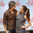 Reynaldo Gianecchini e Giovanna Antonelli na pré-estreia do filme 'S.O.S. Mulheres ao Mar', no Rio de Janeiro, nesta segunda-feira, 17 de março de 2014