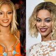 Beyoncé também já fez plástica no nariz. Nas imagens, a cantora na época do Destiny's Child e atualmente