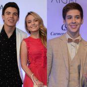 Larissa Manoela, Thomaz Costa e João Guilherme se encontram em evento de Neymar